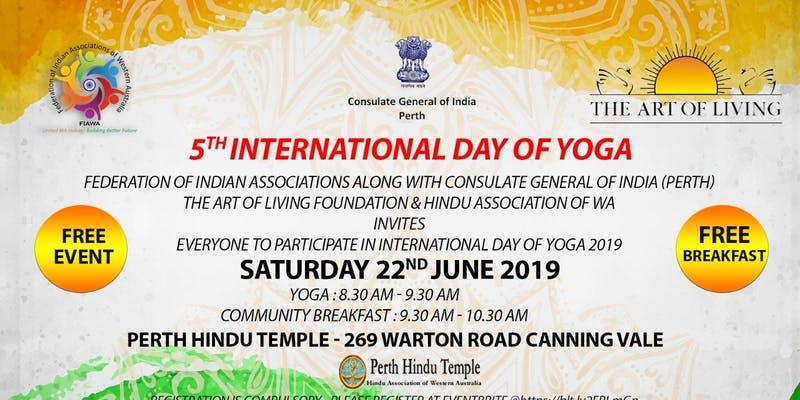 5th International Day of Yoga 2019